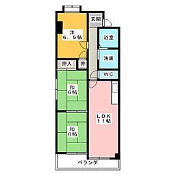 サンハイツ赤城[2階]の間取り