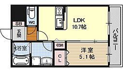MimosaCourt(ミモザコート)[305号室号室]の間取り