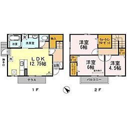 [テラスハウス] 岡山県倉敷市沖丁目なし の賃貸【/】の間取り
