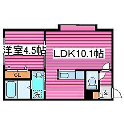 北海道札幌市東区北三十九条東18丁目の賃貸アパートの間取り