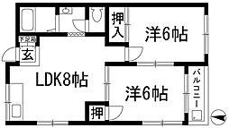 サングレース八王寺2[2階]の間取り
