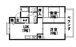 コーポアピカルI[2階]の間取り