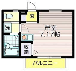 T・Park's KITANO[101号室]の間取り