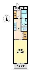 パーラムKY[4階]の間取り
