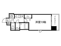 Osaka Metro堺筋線 天神橋筋六丁目駅 徒歩6分の賃貸マンション 11階1Kの間取り