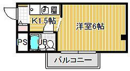 マスターズエル綾園63[203号室]の間取り