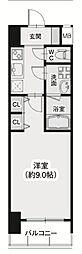 Osaka Metro御堂筋線 淀屋橋駅 徒歩5分の賃貸マンション 11階1Kの間取り
