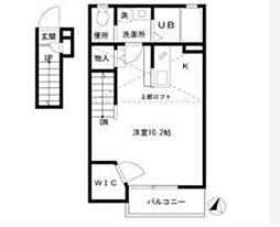 神奈川県横浜市磯子区久木町の賃貸アパートの間取り
