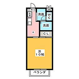 グリーンヒル矢高[2階]の間取り