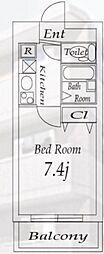 ライズ赤塚[2階]の間取り