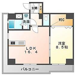 コリーヌ江坂[9階]の間取り