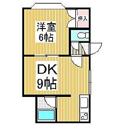 プラティーク・ジョア[2階]の間取り