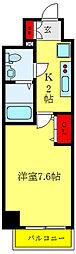 クレヴィスタ西巣鴨 9階1Kの間取り