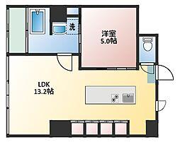 KITAHAMA CONSOLE[9階]の間取り