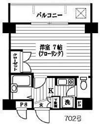 エスコート中野大和町[702号室号室]の間取り