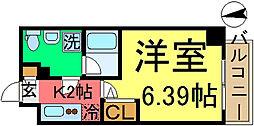 リライア東京イーストレジデンス[6F号室]の間取り