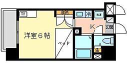 サングレート浅香新館[1112号室]の間取り