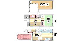 [テラスハウス] 大阪府大東市西楠の里町 の賃貸【/】の間取り
