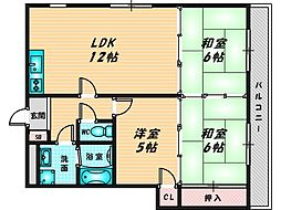 メゾンド・ジャルダン 3階3LDKの間取り