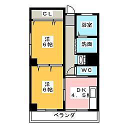 第18和興マンション 北館[4階]の間取り