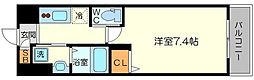 PLACZ SHIN-OSAKA 7階1Kの間取り
