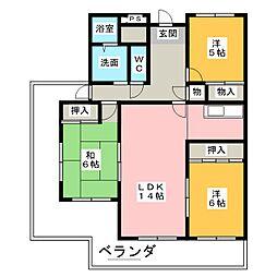 エスポワール尾崎[7階]の間取り