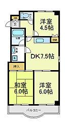 ハイツヒルトンパート2[6階]の間取り