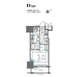 ZOOM横浜桜木町(ズームヨコハマサクラギチョウ) 9階1Kの間取り