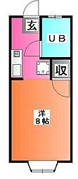 東京都北区上中里2の賃貸アパートの間取り