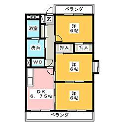 ガーディニアパレス B棟[3階]の間取り