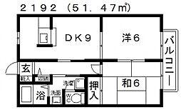 アーバンハイツC・D[103号室号室]の間取り