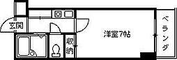 兵庫県西宮市櫨塚町の賃貸マンションの間取り