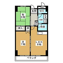 第32オーシャンハイツ[11階]の間取り