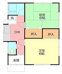 [一戸建] 神奈川県秦野市鶴巻北2丁目 の賃貸【/】の間取り
