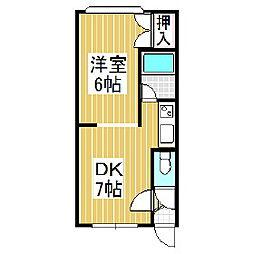 ハイツピーコック[3階]の間取り