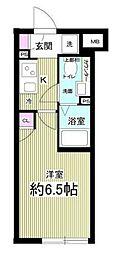 Notice目黒本町 1階1Kの間取り