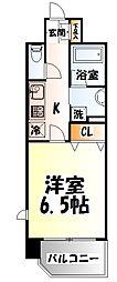 JR東北本線 長町駅 徒歩6分の賃貸マンション 6階1Kの間取り