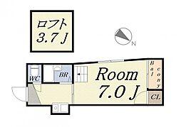 ボンジュールビル[3階]の間取り