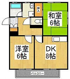 間野アパートII[2階]の間取り