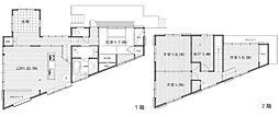 [一戸建] 神奈川県横浜市港北区篠原町 の賃貸【/】の間取り