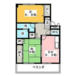 クレインハイム[2階]の間取り