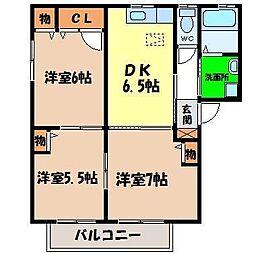 シャーメゾンAKINOKAMI[A102号室]の間取り