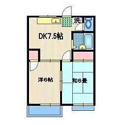 桜井ハイツ[101号室]の間取り