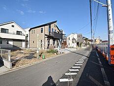 接道状況および現場風景 西東京市下保谷5丁目
