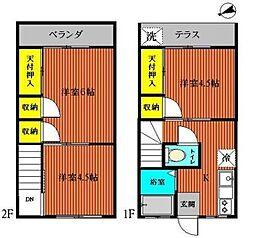 [テラスハウス] 千葉県浦安市堀江2丁目 の賃貸【/】の間取り