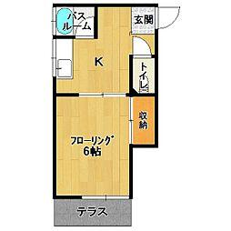 梅光園古賀コーポ[1階]の間取り