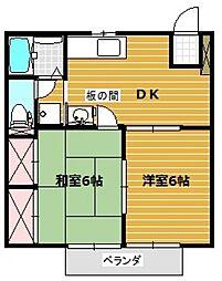 パークサイド美杉台[1階]の間取り