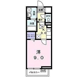 Osaka Metro中央線 深江橋駅 徒歩5分の賃貸アパート 1階1Kの間取り