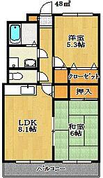 グランメール伊藤[2階]の間取り