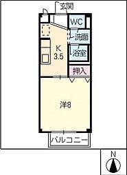 グリーンハウス[1階]の間取り